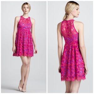 Nanette Lepore Secret Escapes Lace Dress, Magenta